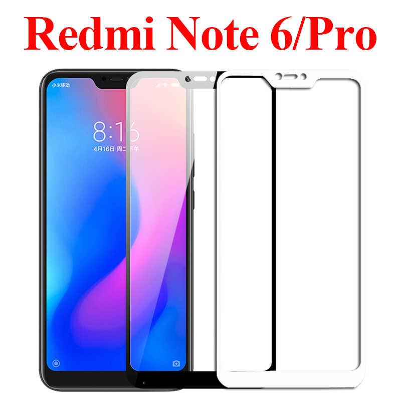 Para xiaomi redmi note 6 pro de vidrio protector ksiomi remi note6 protector de pantalla xiaomei xiomi templado película 6pro proteger glas