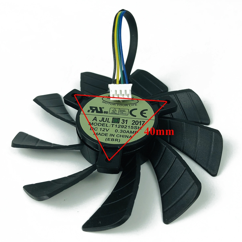 New 85mm T129215SH DC12V 0.30AMP 4Pin Graphic Video Card Cooling Fan for Zotac GeForce GTX1060 <font><b>GTX</b></font> <font><b>1060</b></font> 3GB itx <font><b>mini</b></font> Cooler Fan image