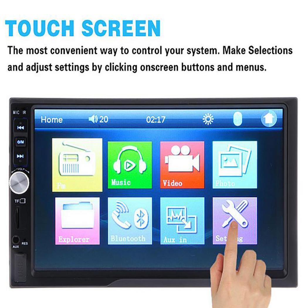 7 pouces 2 Din autoradio Bluetooth Auto voiture stéréo lecteur MP5 écran tactile voiture vidéo lecteur multimédia avec TF USB FM caméra Audio