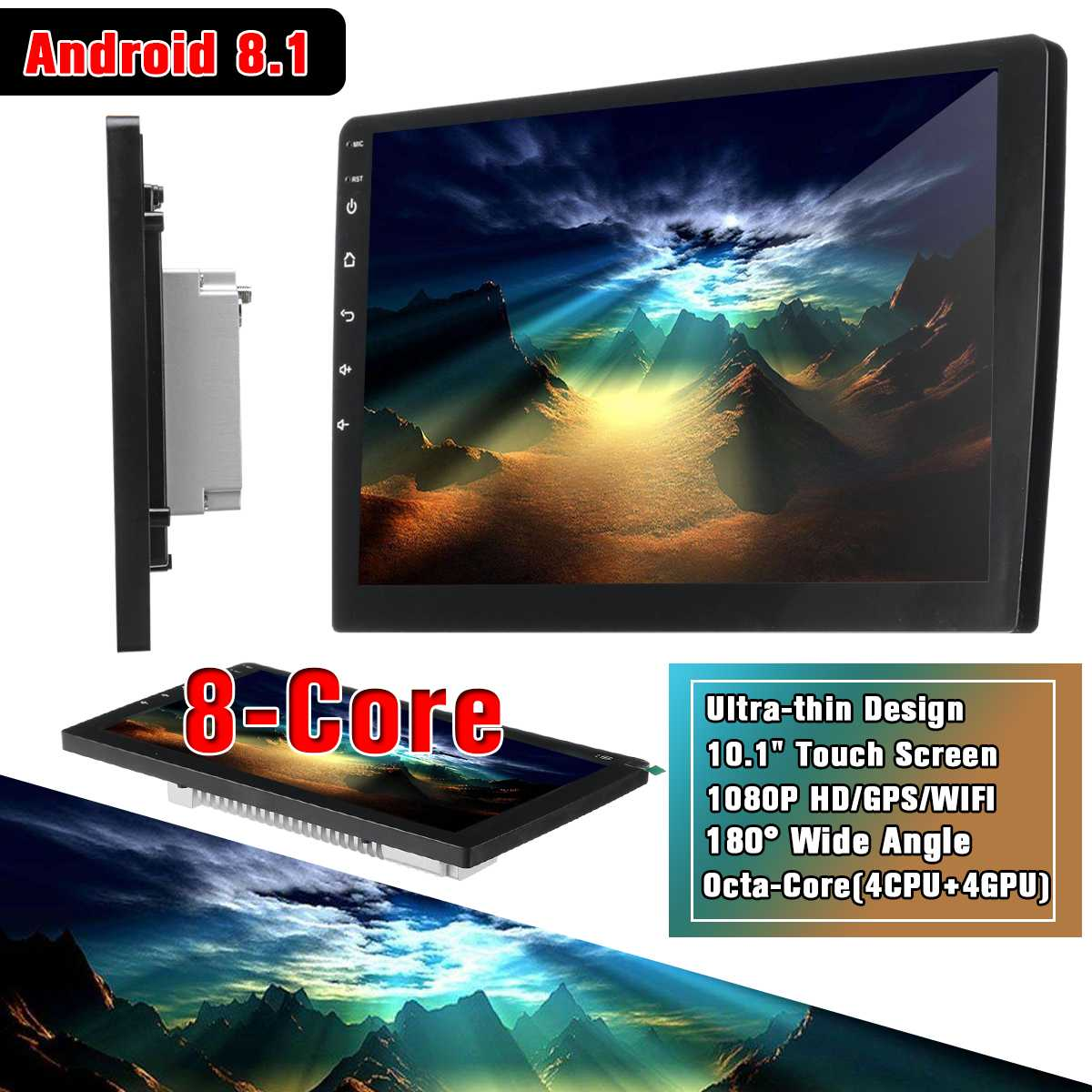 10 1inch HD WIFI Car GPS Navigation FM Bluetooth Touches Screen Truck gps Upgrade Sat nav