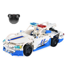 Cada Double E 453pcs Model Electric Remote Control Car Electric Technic Building Blocks Kit Toys Assemble Children Kids Gift(China)