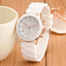 Relogio Feminino nowy mody na co dzień panie biały silikonowy genewa zegarek kwarcowy zegarek panie Sport zegarek cyfrowy prezent na wakacje Chasy tanie tanio QUARTZ Stop Klamra Nie wodoodporne Moda casual Odporny na wstrząsy WN4005 Nie pakiet Hardlex Okrągły VNWCT Women quartz watch