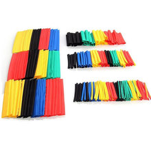 164 pcs Set Assorted Heat Shrink Poliolefinas Shrinking Tubo Cabo de Fio Isolado(China)