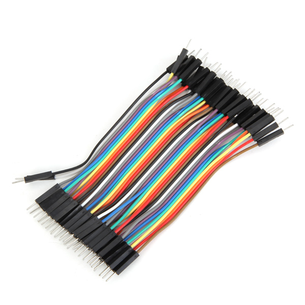 Hot Sale 40pcs 10cm Male To Male M-M Chromatic Color Breadboard Jumper Power Cable Wire Part For Arduino Electronics Stocks
