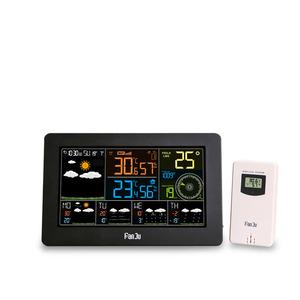 Image 2 - FanJu FJW4 Wifi Weather Station Wall Digital Alarm Clock Thermometer Hygrometer Future Weather Forecast Wind Direction Barometer