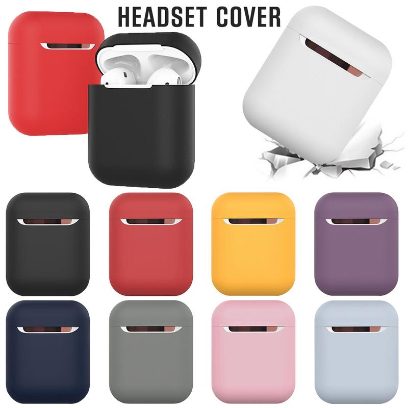 Image 5 - Silicone Headset Protective Cover Wireless Bluetooth Earphone Shockproof Scratchproof Storage Box Washable Case For Apple AirPod-in Earphone Accessories from Consumer Electronics