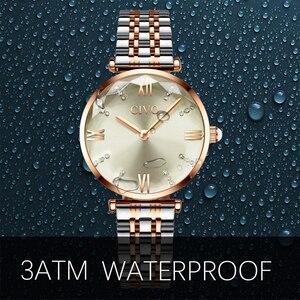 Image 5 - CIVO Fashion Girl Watch Luxury Crystal Silver Steel Dress Ladies Watches Waterproof Womens Bracelet Wristwatch Clock For Woman