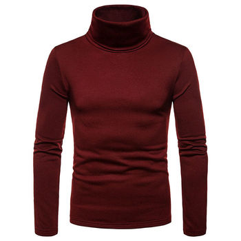 Slim Fit Knitted Pullover Turtleneck Casual Sweater 2