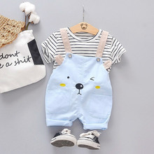 Summer Fashion Baby Girls Clothing Sets Infant Clothes Suits Stripe T Shirt Strap Shorts Kids Sportswear Children Casual Wear-in Clothing Sets from Mother & Kids on AliExpress