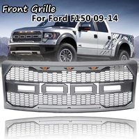 Raptor Style Car Front Grille With Emblem Housing Amber Led Light for Ford F150 F 150 2009 2010 2011 2012 2013 2014