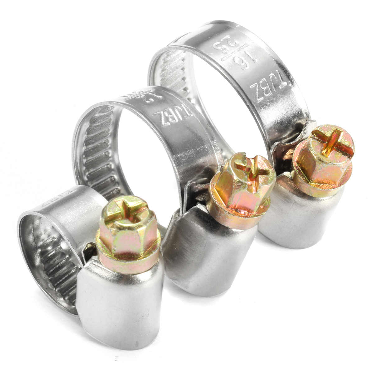 Stainless Steel Genuine Hose Clips Fuel Hose Air Water Pipe Clamp Worm Drive UK