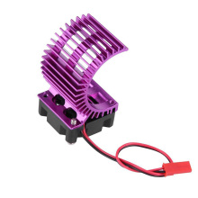 Electric Motor Proof Cover Heat Sink With Cooling Fan For 1/10 RC Car 540/550/3650 Cars Accessories