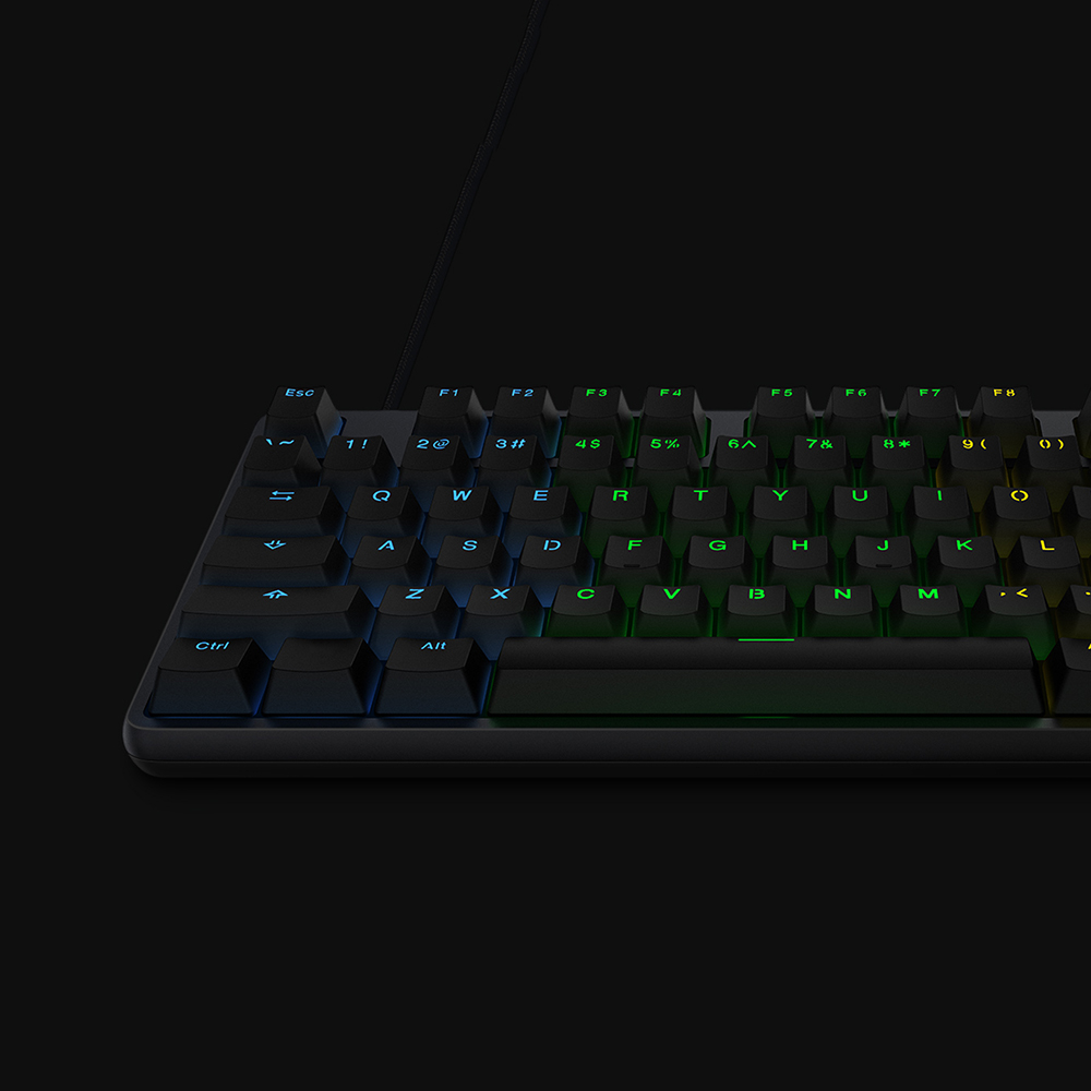 Image 4 - Original Xiaomi Gaming Mechanical Keyboard With RGB Backlight USB 104 Keys Aluminum Alloy Cover Keycaps Keyboard Waterproof-in Keyboards from Computer & Office