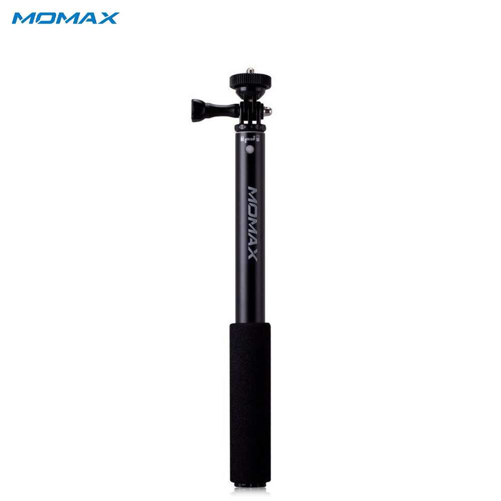 Selfie Sticks Momax KMS1ND Camera Photo Handheld Gimbal monopod for smartphone action sg407 double bracket bridge dual holder handle grip monopod mount adapter for action camera