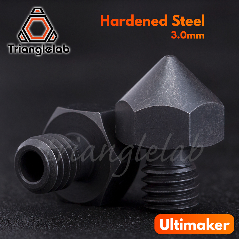 trianglelab high temperature Hardened Steel Ultimaker Nozzles 2 85MM 3 0 for PEI PEEK or Carbon fiber for Ultimaker 3D printer in 3D Printer Parts Accessories from Computer Office