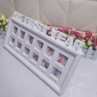 Kids Birthday Gift My First Year Baby 12 Months Picture Photo Frame Display Newborn Photo Frame Picture Home Decor Ornaments