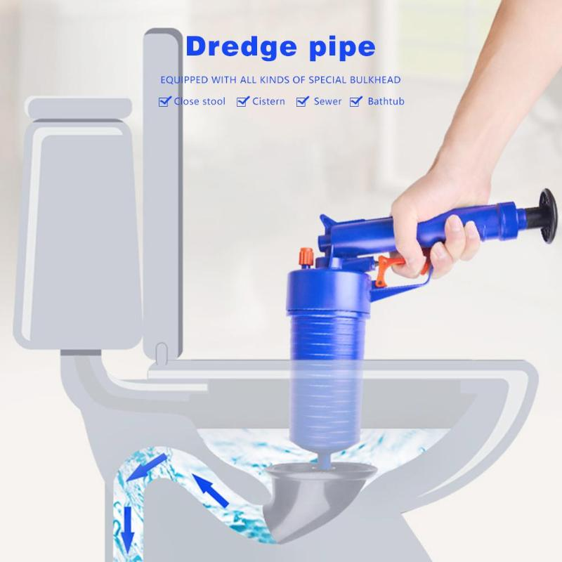 Hochdruck Luft Power Drain Blaster Pistole Starke Manuelle Waschbecken Kolben Opener Reiniger Pumpe für Toiletten Duschen für Bad