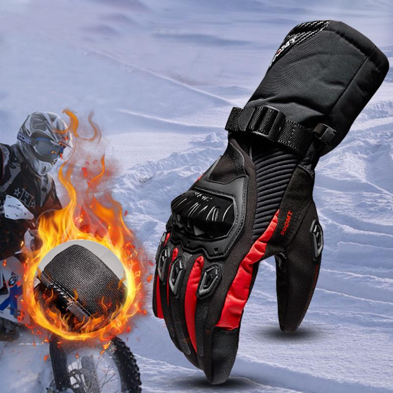 Winter Motorcycle Gloves Waterproof And Warm Four Seasons Riding Motorcycle Rider Protector Cross-Country Gloves