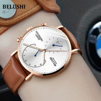 2cf2b5e33025 Relojes para hombre, relojes de pulsera de cuarzo de lujo de marca  superior, reloj de pulsera informal para hombre, reloj de pulsera  impermeable para ...