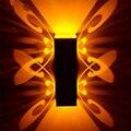 Светодиодный настенный светильник для помещений  2 Вт  алюминиевый бра с изображением бабочки  AC110-220V  декоративное настенное освещение  бес...