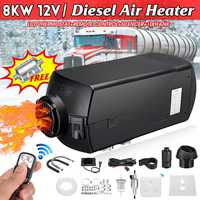 12V 8KW Car Heater Air Diesels Heater Thermostat Car Parking LCD Monitor Warmer Heating Machine For RV Boat Motorhome Trailer