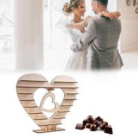 Wedding Decoration Wooden Chocolate Display Stand Heart Shaped Sweets Candies Holder Decoration for Wedding Banquets Anniversary