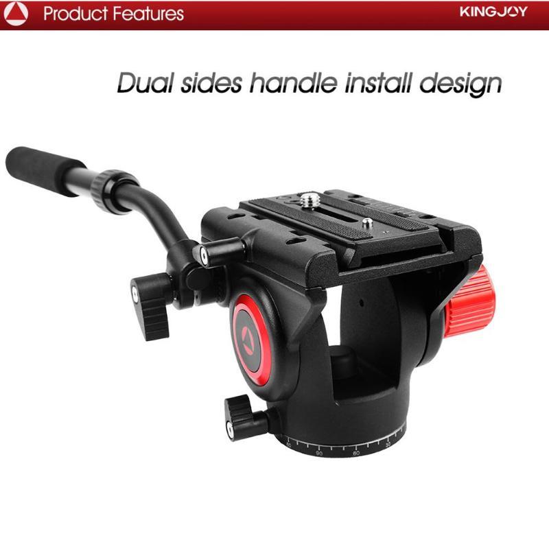 Kingjoy VT-3520 360 tête d'amortissement fluide panoramique tête de trépied vidéo support de stabilisateur de caméra Compatible avec trépied