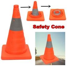 Складной оранжевый безопасности дорожного движения конус всплывает парковка многоцелевой