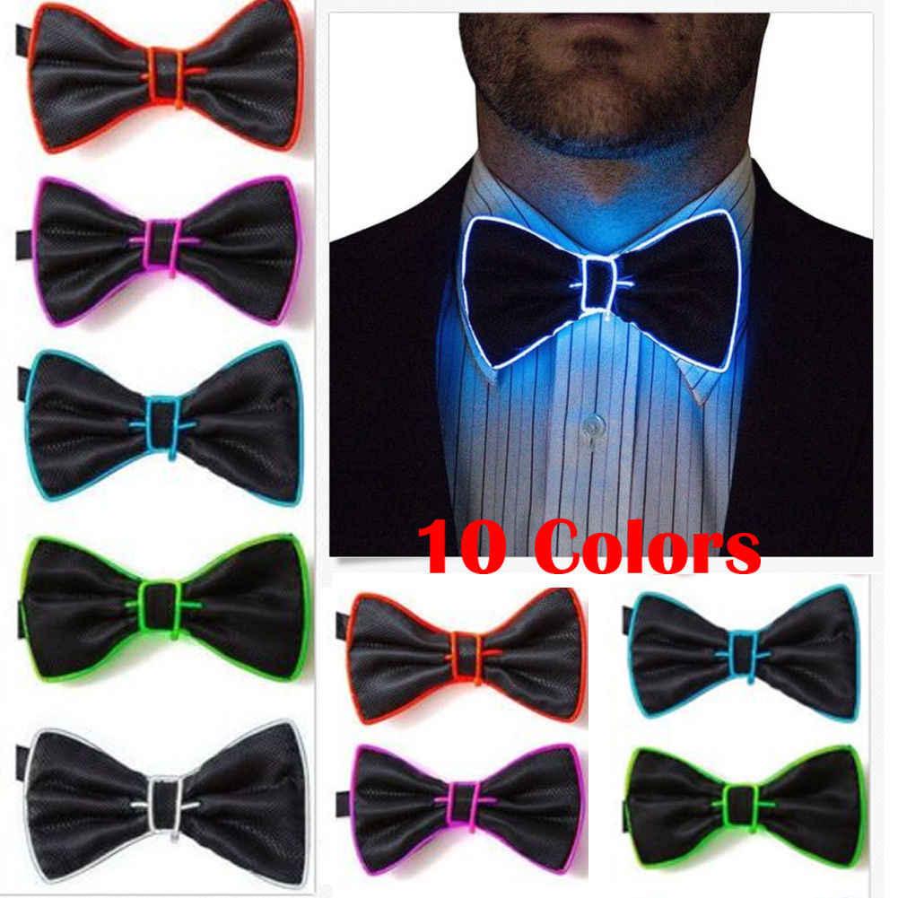 2019 Piscando Light Up El Fio Bow Tie Gravata Dos Homens LEVOU Luzes da Festa de Casamento Bowtie Laços