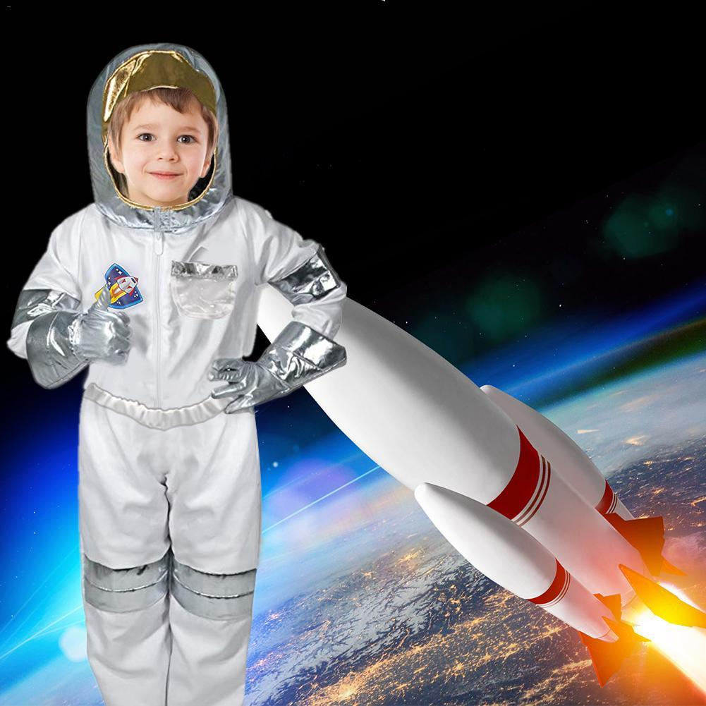 Children's Cool Astronaut Costume Role Play Holiday Costume Halloween Carnival Cosplay Suit Boys Stage Show Rocket Man Clothing Sets     - title=