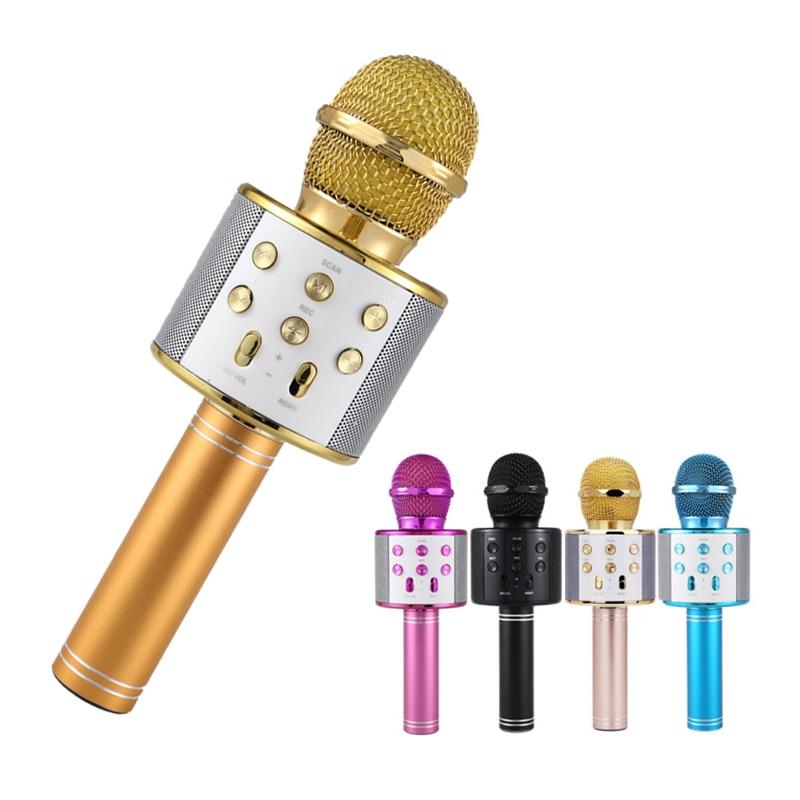 Professional Bluetooth Wireless Microphone Speaker Handheld Karaoke Mic Music Player Singing Recorder KTV