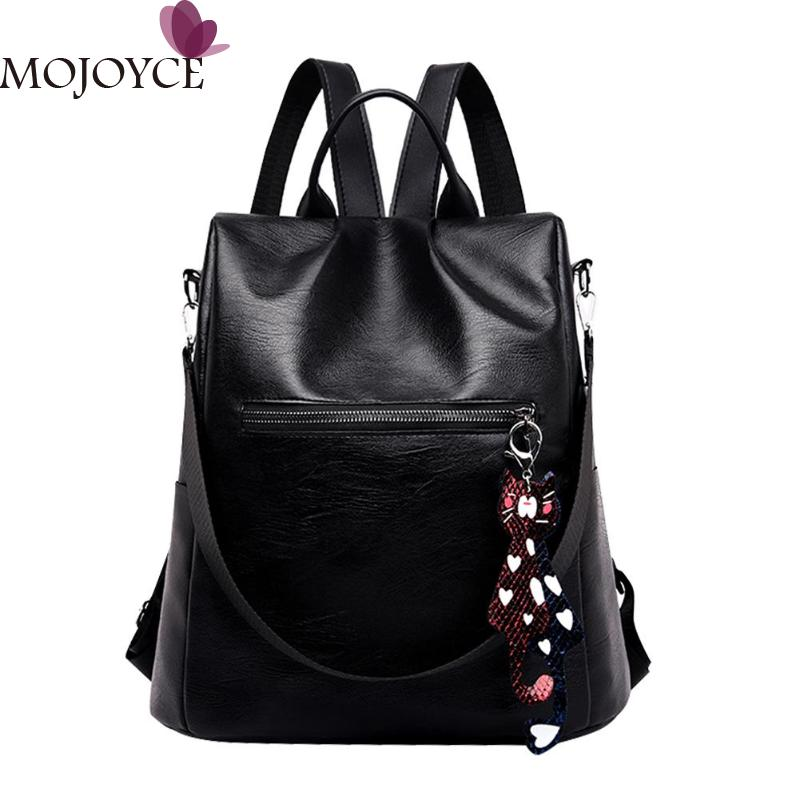 2019 New Female Black Casual Anti-theft PU Leather Backpack School Teenager Girl Travel Women Shoulder Bags Mochila Feminina2019 New Female Black Casual Anti-theft PU Leather Backpack School Teenager Girl Travel Women Shoulder Bags Mochila Feminina