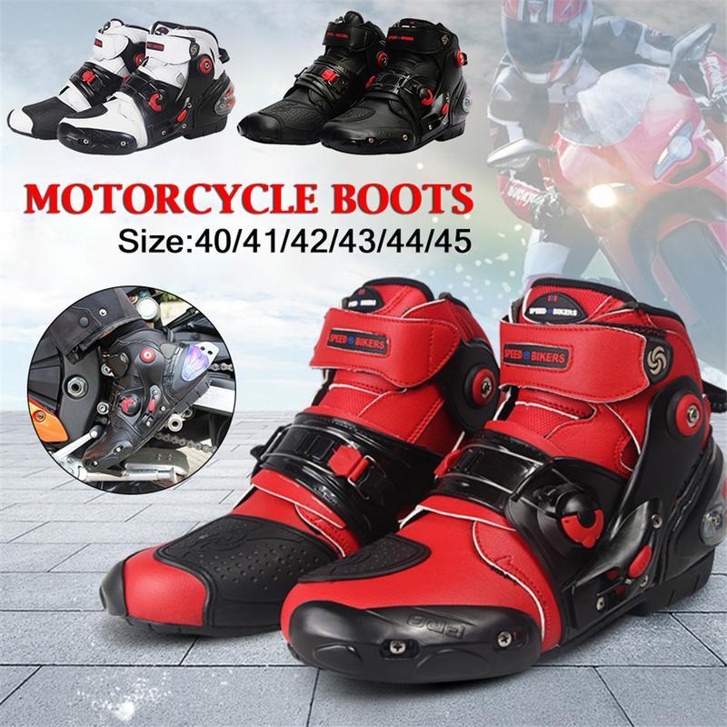 Bottes de course de moto respirantes légères hommes et femmes chevaliers bottes courtes chaussures d'équitation de loisirs