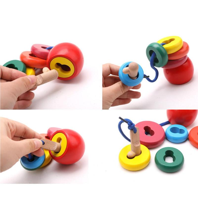 100% Kwaliteit Houten Regenboog Stapelen Speelgoed Balans Bouwstenen Kralen Gemonteerd Speelgoed Kinderen Kids Educatieve Puzzel Speelgoed Geschenken