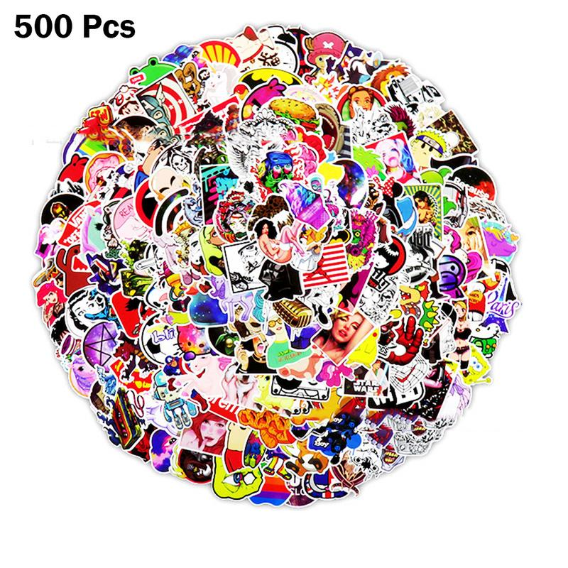 500 PCS Stickers Mixed Cartoon Graffiti DIY Stickers Personal Universal For Decorating Car Motorcycle Trolley Case