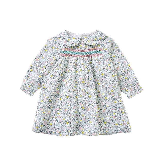 565829ad3 baby girl smock dress long sleeve pink spring kids dresses for ...