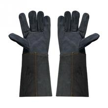 36cm Heavy Duty Welding Gloves Leather Cowhide Protect Welder Hands  Anti-scald Splash Proof Long Sleeve Workplace Safety Gloves(China)