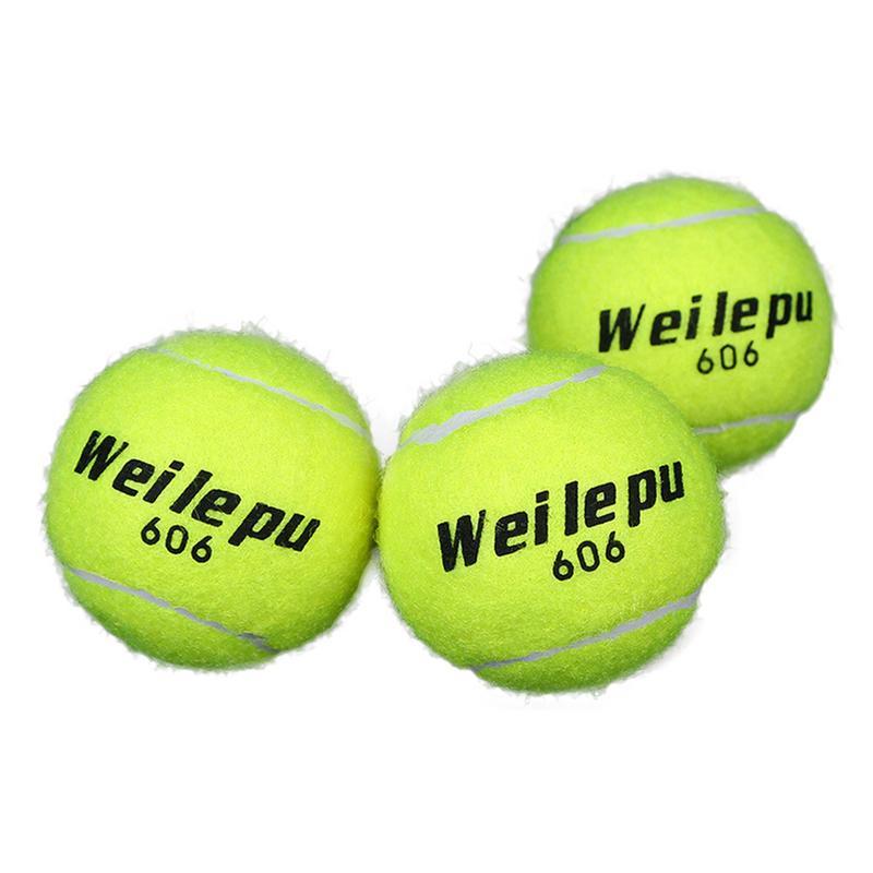 Green Advanced Rubber Training Tennis Balls Practice Ball