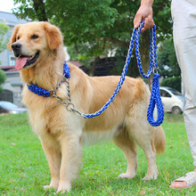 New Hot 1.65 Meter Super Long Large Dog Traction Rope Big Leash Nylon Woven Pet Product For Dogs