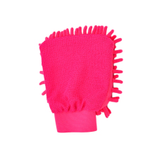 Перчатка для мытья машины без царапин Премиум шенильная микрофибра односторонняя Ультрамягкая перчатка для мытья автомобиль внедорожник Грузовик(розово-красный
