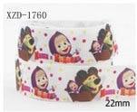 """IuBuFiGo 10 двор 7/""""(22 мм) десерт печатных Grosgrain ленты и лук волос мультфильм с атласными лентами DIY ручной работы, подарочные упаковки 1530"""