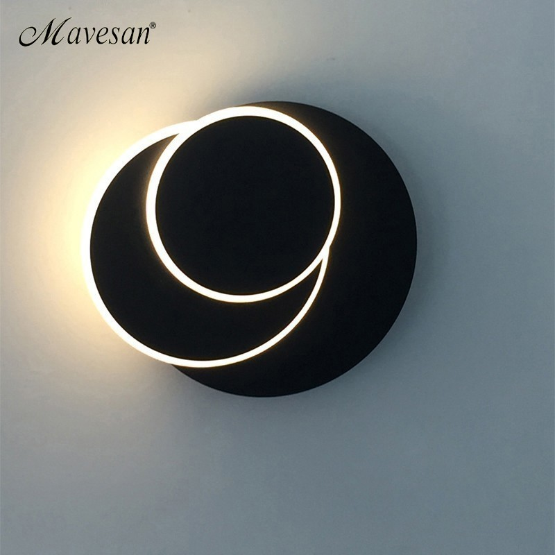 LED Wall Lamps light18W Bedroom 350 degree rotation Beside Reading Wall Lights Indoor Living Room Corridor