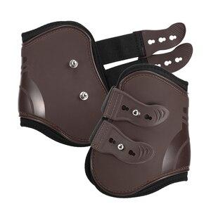Image 3 - 4個フロント後肢調節可能馬脚ブーツ馬フロント後肢ガード馬術腱保護馬借金ブレース
