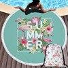 Popular Flamingo Series Summer Beach Towel 150cm Microfiber Swimming Bath Towel Outdoor Sport Yoga Casual Blanket Beach Mat 1