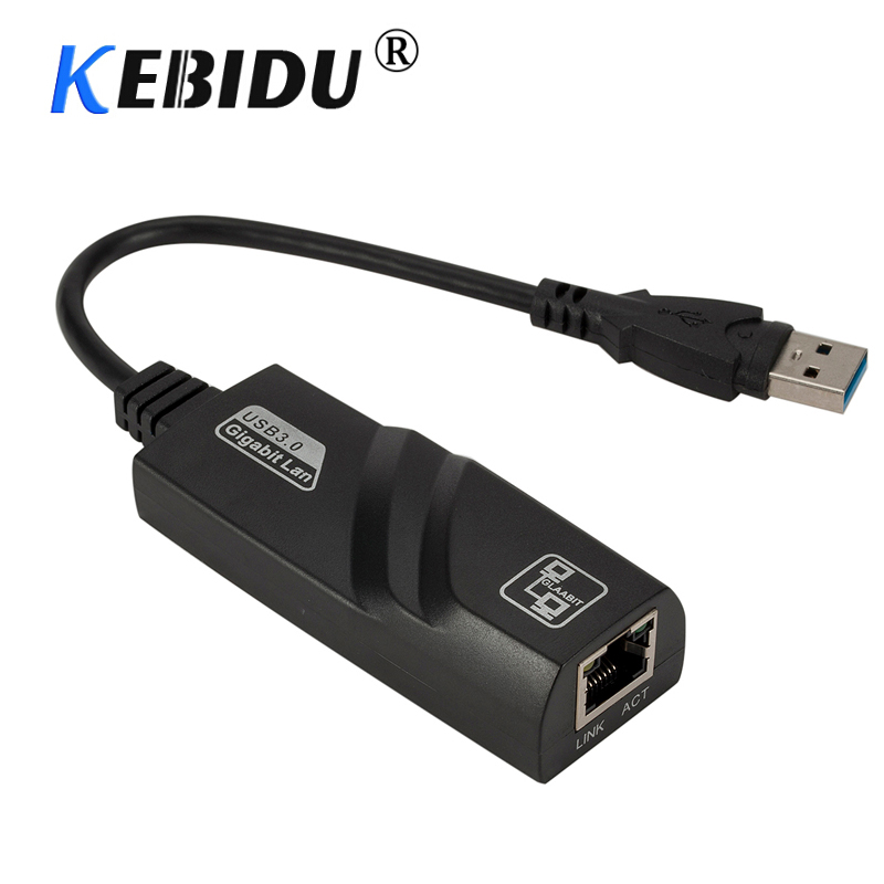USB 3.0 to 10//100//1000 Mbps Gigabit RJ45 Ethernet LAN Network Adapter For PC