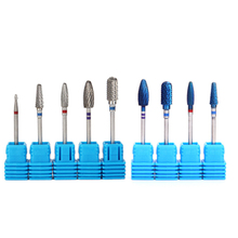1pc Tungsten Carbide Nano Coating Blue Nail Drill Bits Electric Machine Manicure for Removing Polish Nail Art Accessories Tools