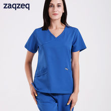 Unisex Medical Uniform Scrub Set Includes V-Neck Top with 1