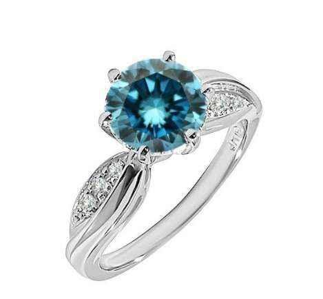 נקבה כיכר טבעת יוקרה רסיס טבעות לנשים מלא קריסטל כחול זירקון טבעת נישואים הבטחת אירוסין תכשיטי מתנות