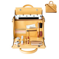 Yellow Hand Bag Large Capacity Women Handbag Female Organize Bag Leather Multifunction Shoulder Crossbody Bag Feminine Bolsa