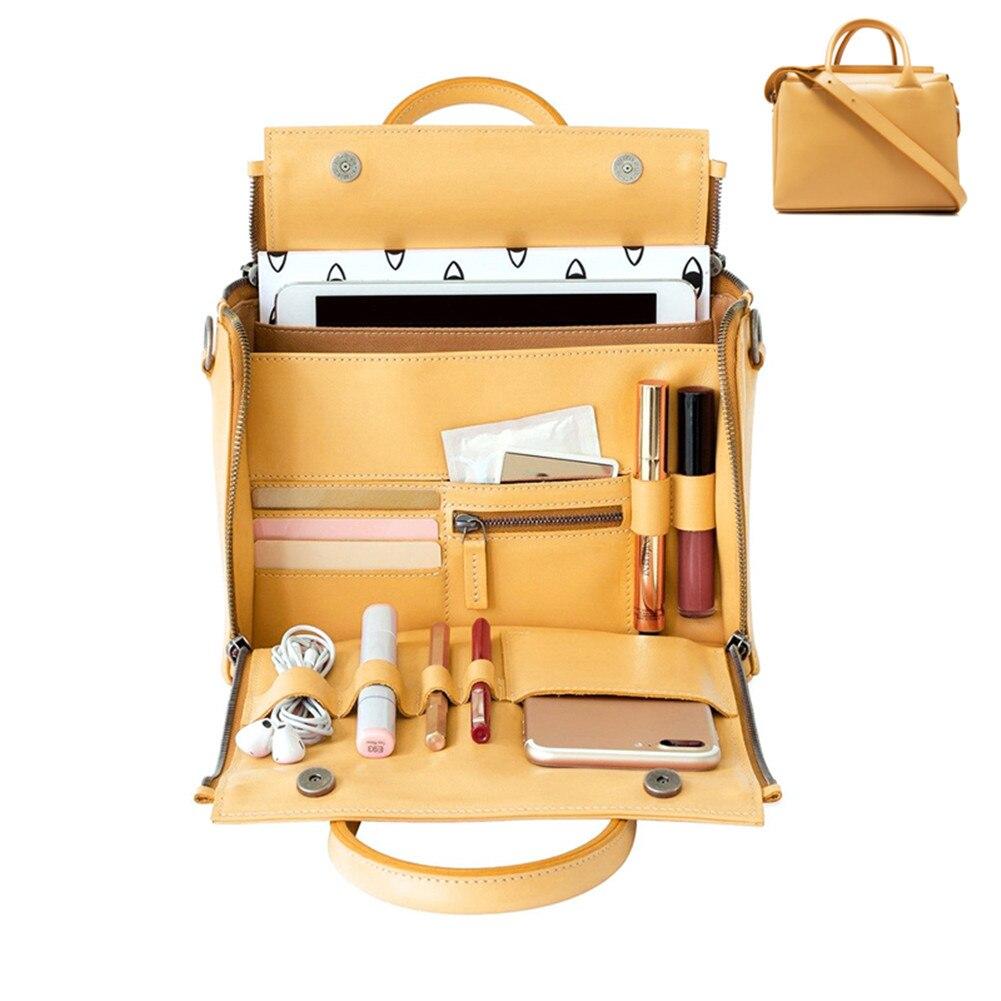 Sac à main jaune grande capacité femme sac à main femme organiser sac cuir multifonction bandoulière sac féminin Bolsa